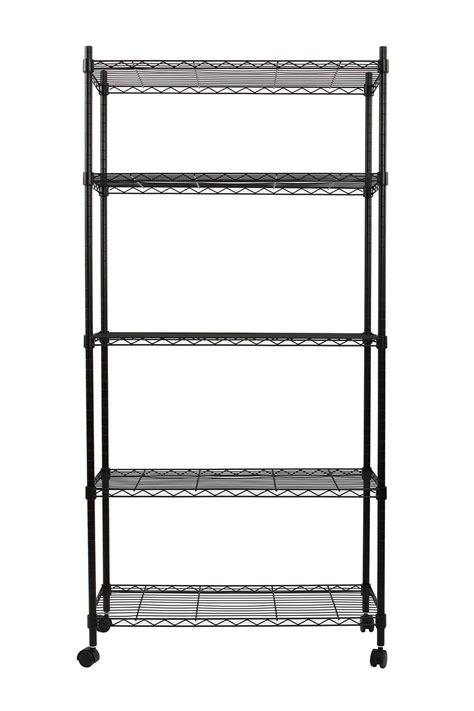 5 Tier Wire Shelf by Finnhomy 5 Tier Wire Shelving Unit Adjustable Steel Wire