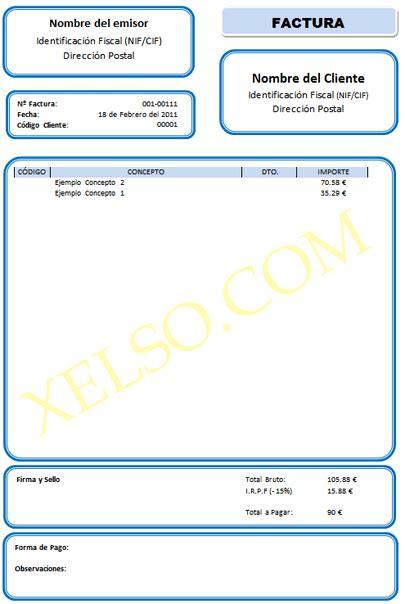 descargar plantillas facturas servicios profesionales windows archivos xelso blog nuevas tecnolog 237 as