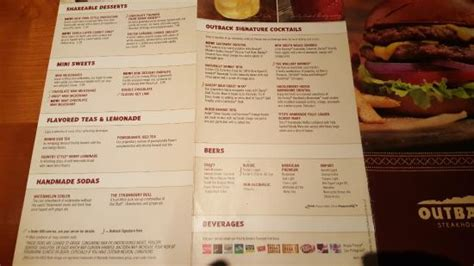Outback Steak House Menu by Outback Steakhouse Picture Of Outback Steakhouse
