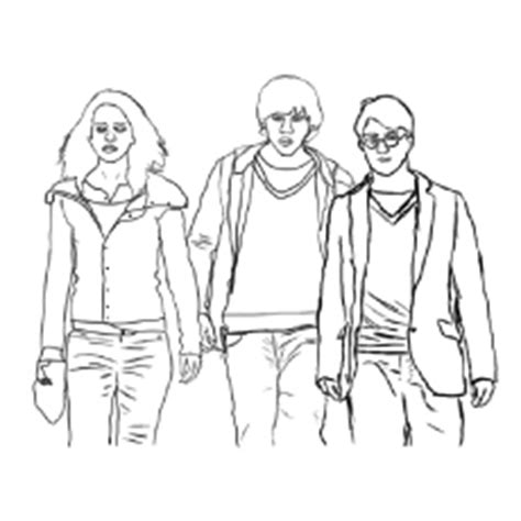 free harry ron and hermione coloring pages halloween harry potter ron and hermione coloring pages coloring page