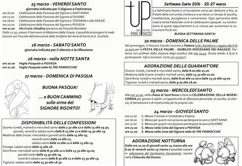 programma settimana santa 2016 parrocchia programma settimana santa unita pastorale piove di sacco