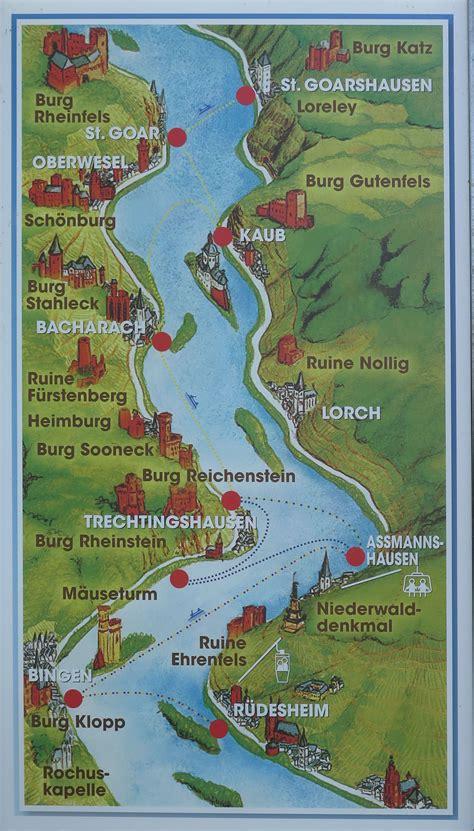 rhine germany map germany rhine river valley frankie s footprints