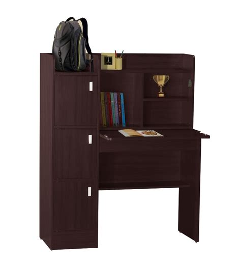 nilkamal winner study table with book shelves tabletop