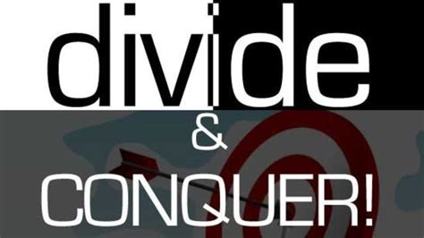 conquer my divide and conquer steemit