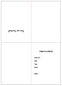 Eos Birthday Card Free Template 4 Per Page by Free Printable Invitations Templates