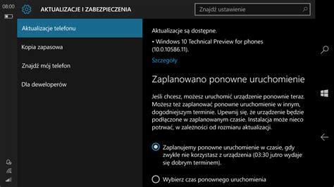 windows 10 mobile build 10586 11 trafi wkr 243 tce do
