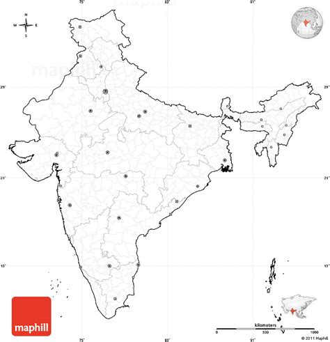 printable india map political india political blank map