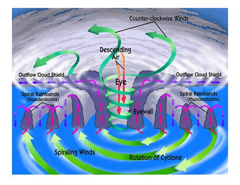 cyclone formation diagram tropical cyclone labeled flickr photo