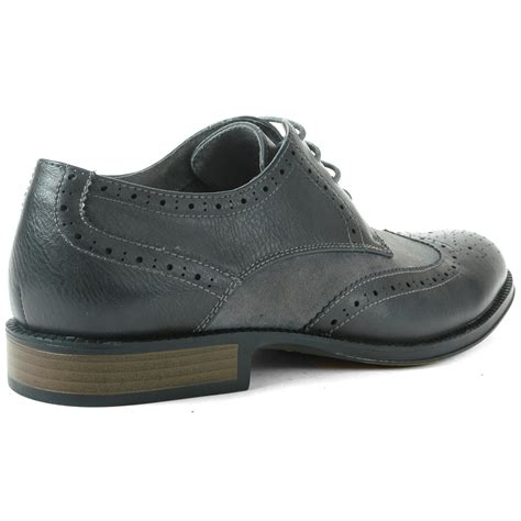 alpine swiss zurich s wing tip dress shoes two tone brogue lace up oxfords ebay
