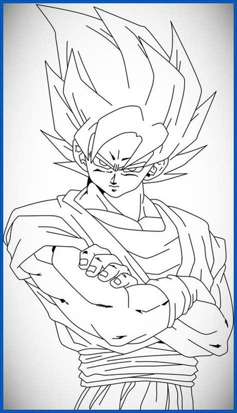 Imagenes Geniales De Goku | geniales dibujos de goku para colorear e imprimir