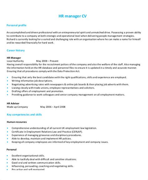 Hr Manager Resume by 54 Manager Resumes In Pdf Free Premium Templates
