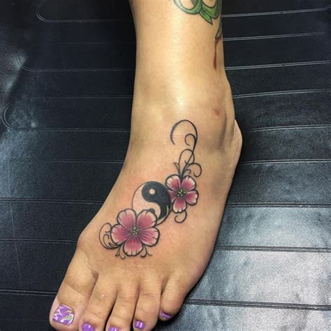 ying and yang foot tattoos letter y tattoos