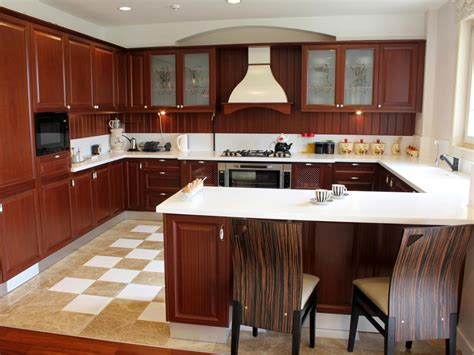 U Shaped Kitchen Design With Island by U Shaped Kitchens Hgtv