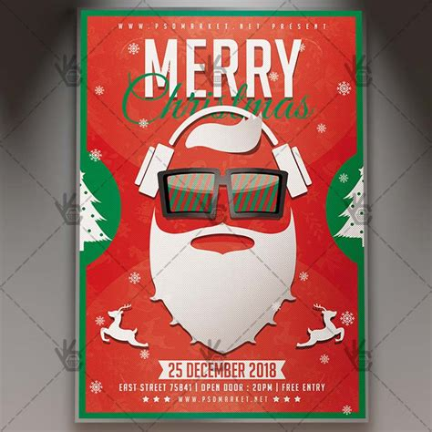 Merry Christmas Party Winter Flyer Psd Template Psdmarket Merry Flyer Template Free