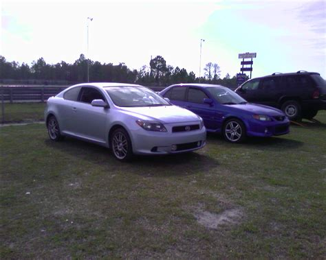 stock 2006 scion tc 1 8 mile drag racing timeslip 0 60
