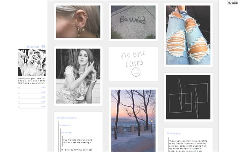 tumblr themes left sidebar mystical themes