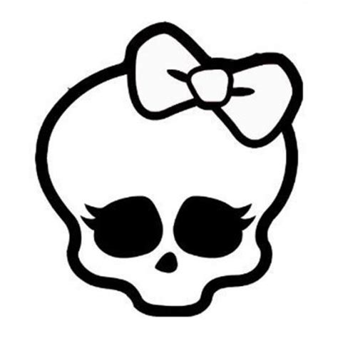 Monster High Skull Coloring Pages | monster high cake