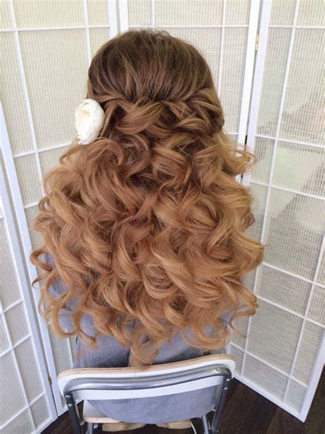 Half Up Half Wedding Hairstyles Tutorial by Awesome Hairstyles For Wedding Images Styles Ideas