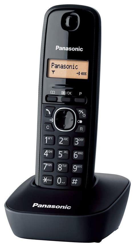 Panasonic Wireless Phone Kx Tg1611 Black panasonic kx tg1611 telephones dect desk black lcd aaa