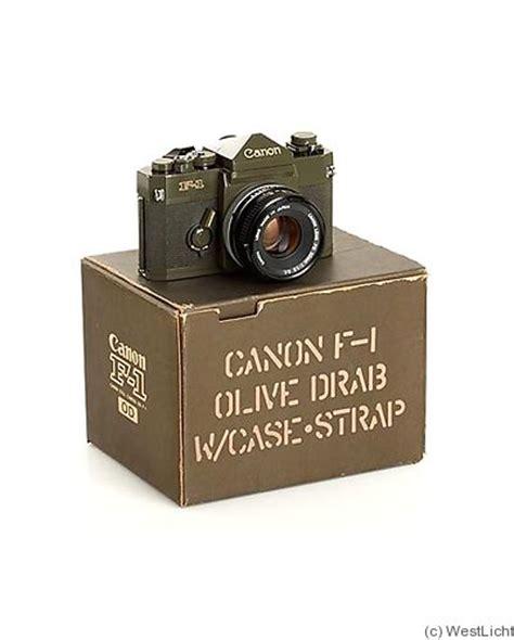 canon: canon f 1 olive (odf 1, military) price guide