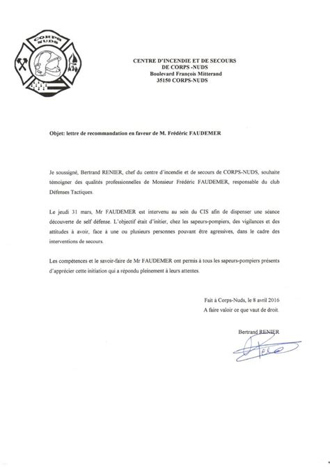 Lettre De Recommandation Pour Le Master Lettre De Recommandation Ong Document