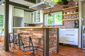 ilot de cuisine en bois de grange mzaol