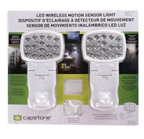 capstone wireless motion sensor light 2 pk capstone lighting 2pk led wireless motion sensor light n