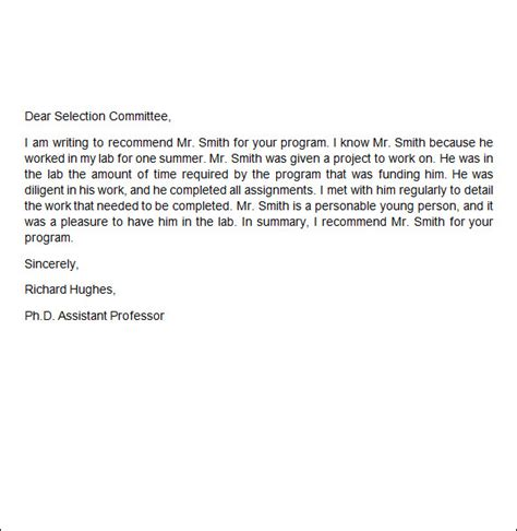 Recommendation Letter Position Recommendation Letter 9 Free Documents In Word Pdf