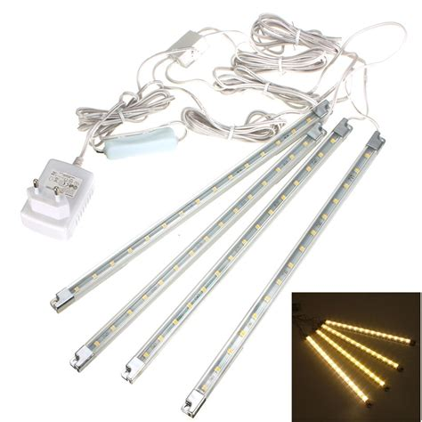 kitchen cabinet led lighting kits 4x 15 led kitchen cabinet counter light l bar kit warm white ebay