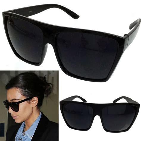 Square Oversized Sunglasses Black black oversized large xl big sunglasses square flat
