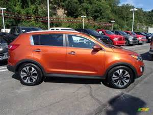 techno orange 2011 kia sportage sx exterior photo