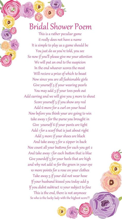 Bridal Shower Poems by 25 Best Bridal Shower Poems Ideas On