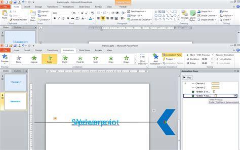 membuat powerpoint berjalan otomatis cara membuat transisi teks dengan mudah sipowerpoint