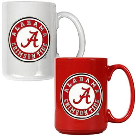 Best Ceramic Mugs by Alabama Crimson Tide 2pc Coffee Mug Set 7570134 Hsn