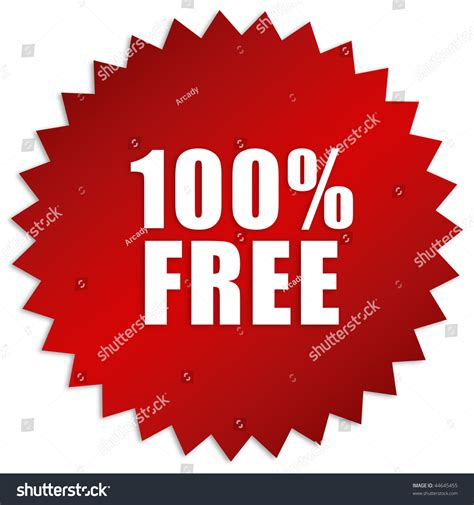 100 Percent Free Search 100 Percent Free Sticker Stock Photo 44645455