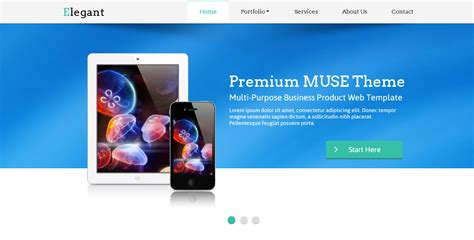 Elegant Muse Web Template By Barisintepe Themeforest Muse Website Templates