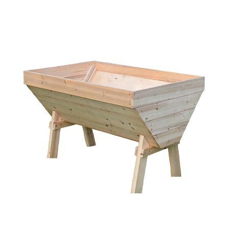 eden fir deep root  shaped garden table rgt