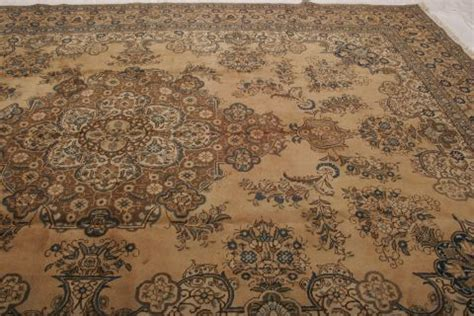 persian tabriz beige rectangle 12x15 ft wool carpet 74829