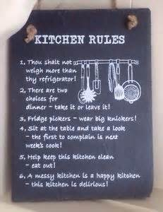 Funny kitchen signs slate plaque wall hanging kitchen rules