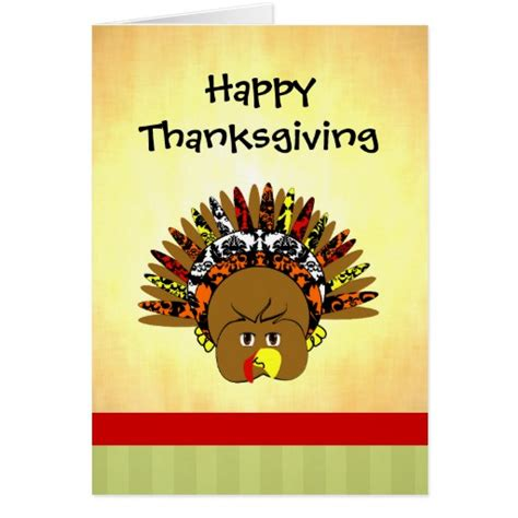 cute printable thanksgiving cards cute turkey happy thanksgiving greeting card zazzle