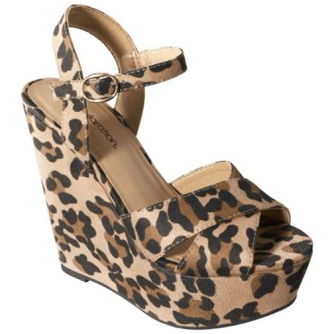 xhilaration leopard cheetah wedges from caitlin s