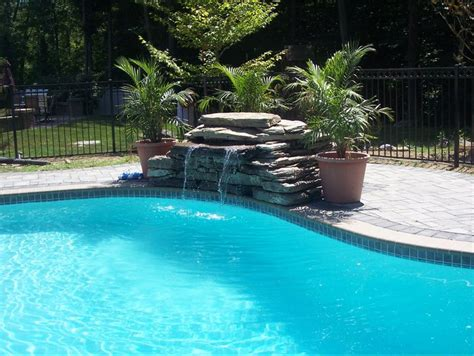 waterfalls for inground pools swimming pool waterfalls water features