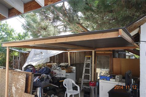 Patio Shed by How To Put A Simple Shed Patio Roof Cover For