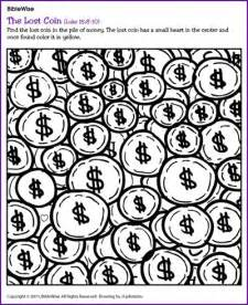the lost coin puzzle jesus parables kids korner
