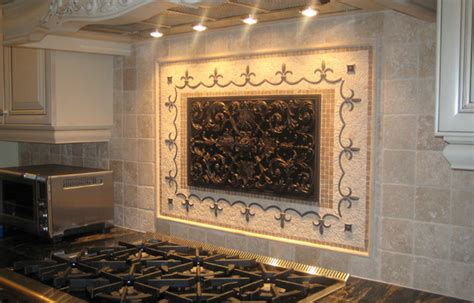 kitchen backsplash tile murals handcrafted mosaic mural for kitchen backsplash