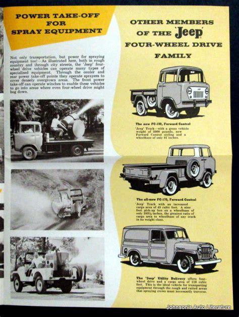 Jeep Disease 1958 Jeep Vehicles Help Fight Disease Brochure On Ebay