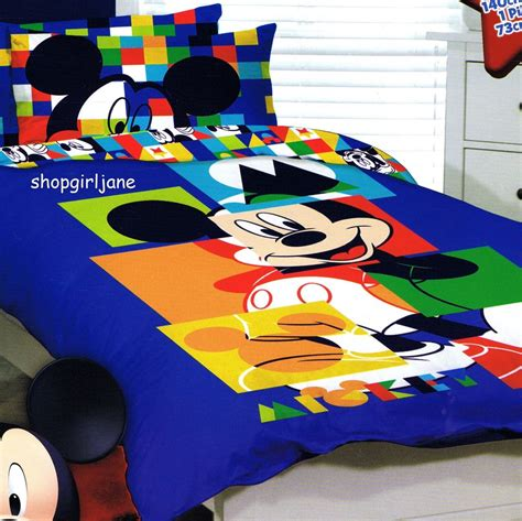 mickey mouse twin bed set mickey mouse disney puzzle single us twin bed quilt