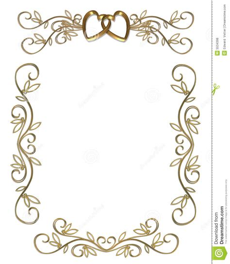 wedding clipart for invitations 7 best images of free printable wedding borders gold