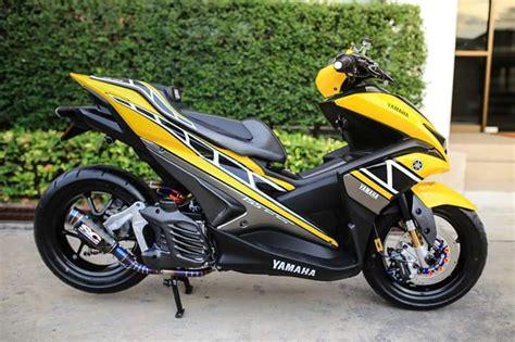Modifikasi Aerox 155 Kuning by Modifikasi Yamaha Aerox 155 Livery 60th Anniversary Yamaha