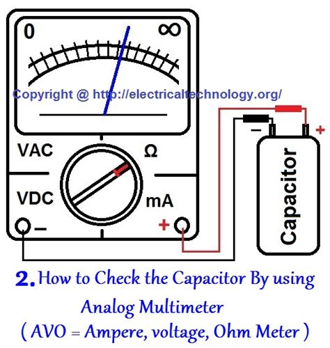 how to test a capacitor with a analog multimeter how to check a capacitor with digital multi meter 4 methods